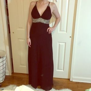 Faviana Ball Gown with added cups